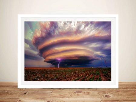 Huge Tornado Framed Wall Art Au