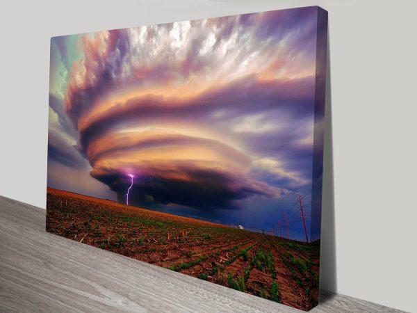 Huge Tornado Canvas Art Print