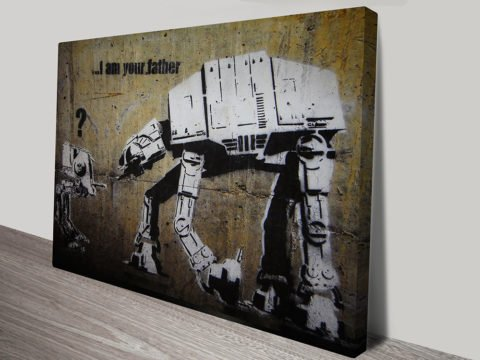 I Am Your Fathe Banksy Star Wars Art Canvas