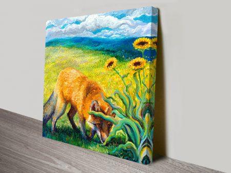 Foxy Square Triptych Iris Scott Art