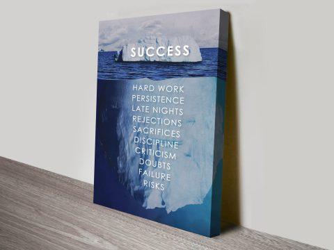 Success Quote Iceberg Artwork canvas print