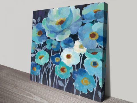Indigo Flowers II Silvia Vassileva Collection on Prints