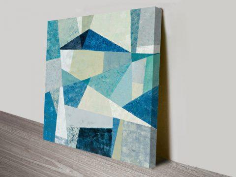 Indigo Geometric Soft Wall Canvas Print
