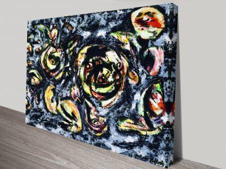 Jackson Pollack Ocean Greyness Cr Abstract Wall Art Print