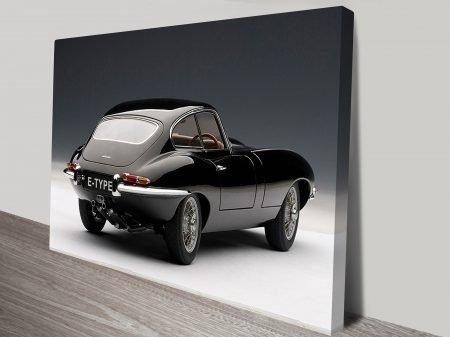 Jaguar E Type Canvas Art by Blue Horizon Prints