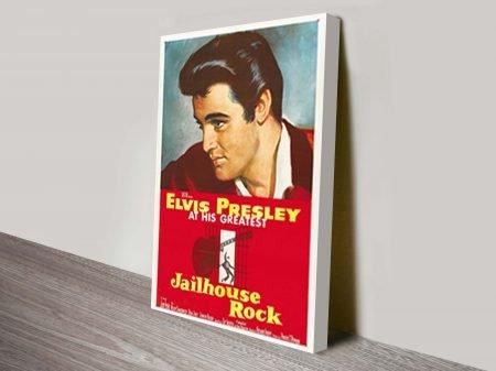 Jailhouse Rock Movie Poster Canvas Print