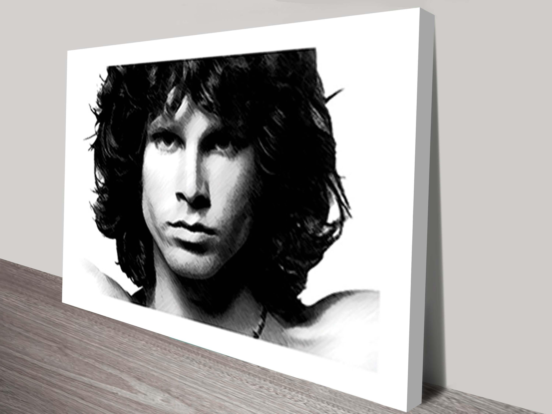 Jim Morrison Canvas Wall Art