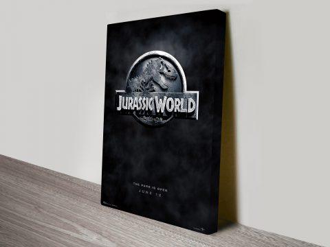 Jurassic World movie poster canvas print