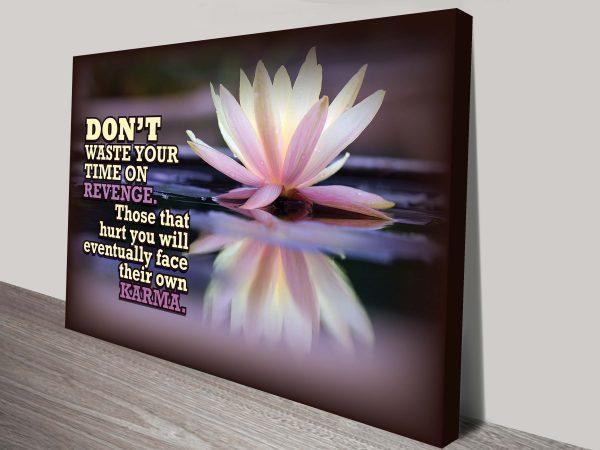 karma inspirational quote canvas print melbourne
