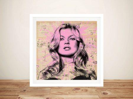 Kate Moss by Mr Brainwash Urban Art Prints & Posters Australia