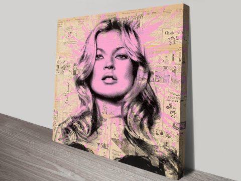 Kate Moss Mr Brainwash Canvas Print