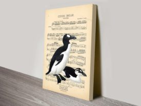vintage old song sheet canvas wall art