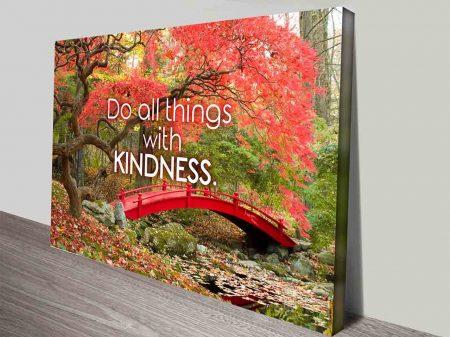 kindness quotes wall art canvas print australia