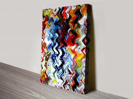 Kinetic spirit abstract wall art print
