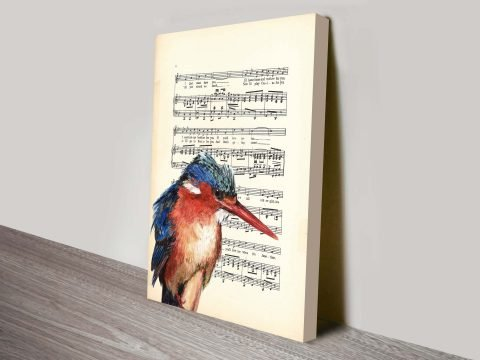 Kingfisher songsheet vintage art