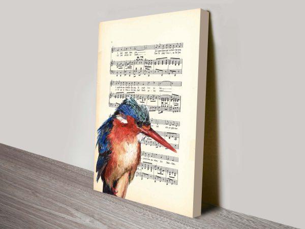 Kingfisher songsheet vintage art