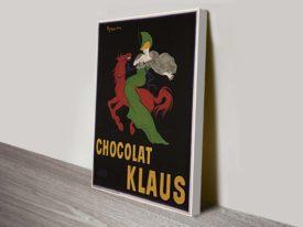 Klaus Chocolate advertising artwork posters