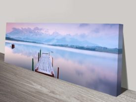 Lake Tranquility Panoramic Art