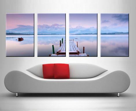 lake tranquility 4 panel custom canvas prints online