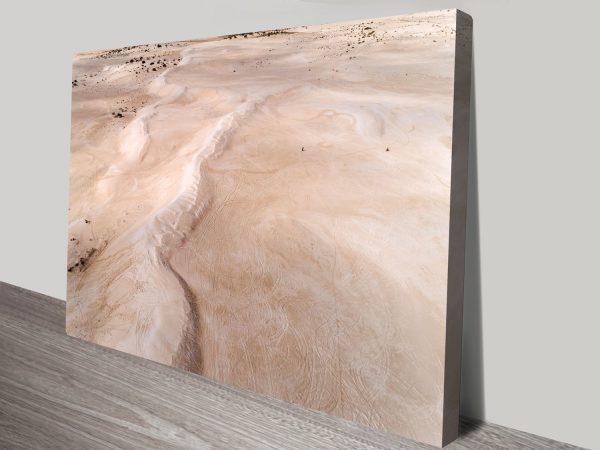 Lancelin Sand Dunes Aerial Surf Australia Photo Canvas Prints