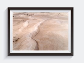 Lancelin Sand Dunes Aerial Surf Australia Photo Framed Art