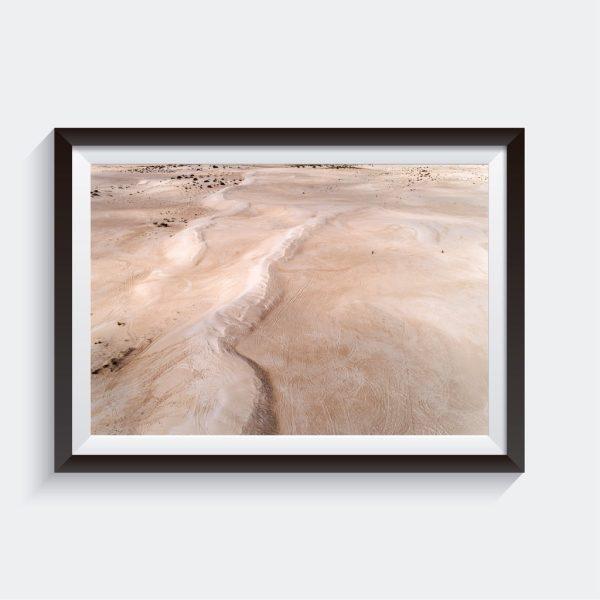 Lancelin Sand Dunes Aerial Surf Australia Photo Framed Art