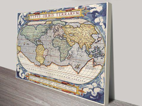 Latin Old World Map Wall Art