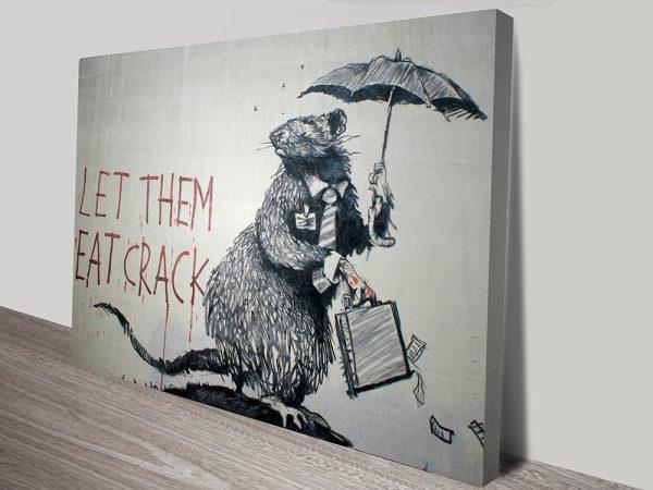 Let them eat crack Banksy art