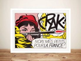 Lichtenstein crack Framed Pop Art