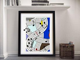 Roy Lichtenstein Composition I Framed Wall Art