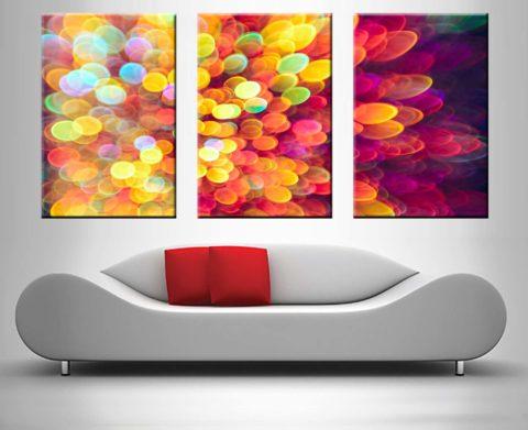 light and shimmer burst 3 panel art