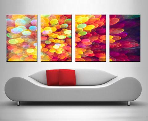 light and shimmer burst 4 panel art