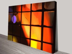 Light Behind The Window Abstract Wall Art Print