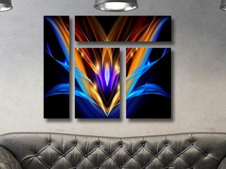 Light Flower Mixed 4 Panel