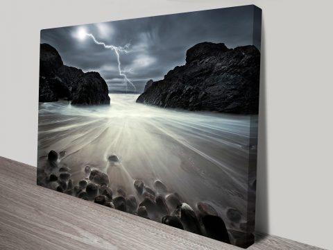 Lightening Strikes Canvas Giclee Print