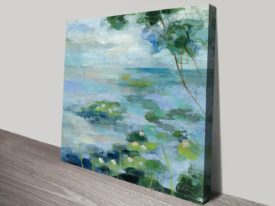 Lily Pond II Square Canvas on Prints Online Melbourne Sale