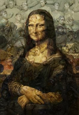 Liu Bolin Mona Lisa