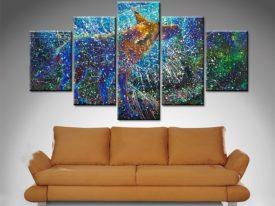 Buy 5 Piece Split Canvas Diamond Shaped Artwork Canvas Prints
