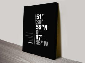 Buy London coordinates framed wall art
