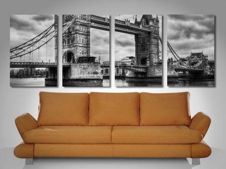 London Bridge black white art