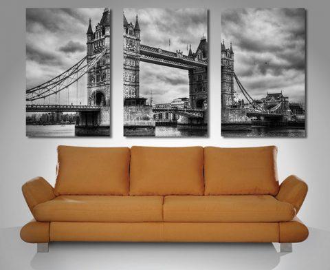 London Bridge triptych art