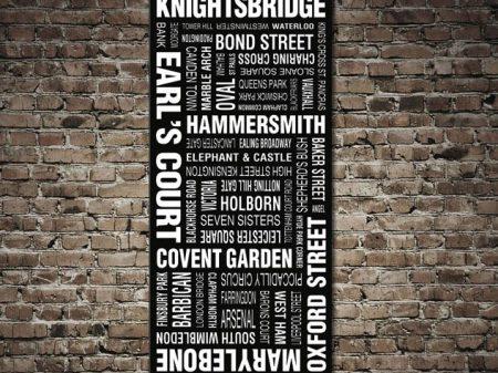 London Bus Scroll Canvas Print