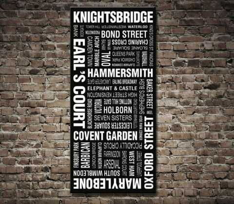London Bus Scroll Canvas Print