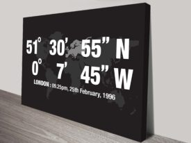 London Coordinates canvas Wall Art