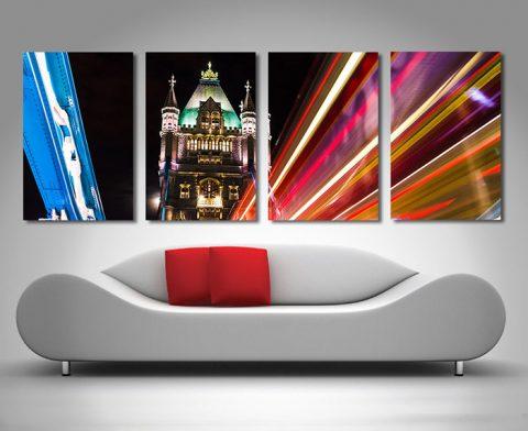 London in motion split canvas print.