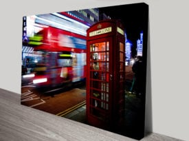 London Scene Artwork on Canvas