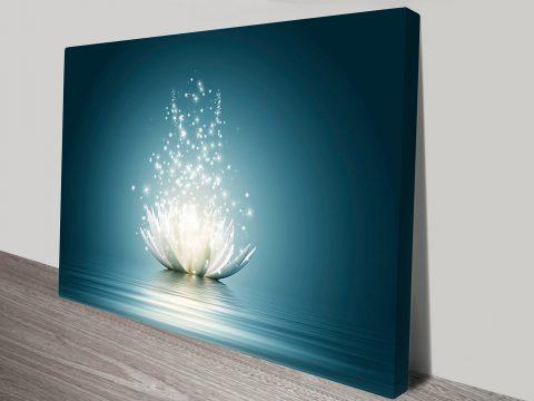 Lotus flower moonlight art