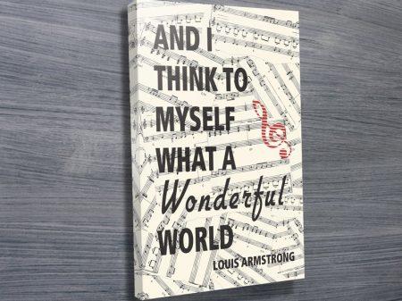Louis Armstrong Lyrics Canvas Art