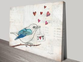 Buy a Love Birds Print by Courtney Prahl