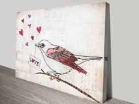 Love Birds II Canvas Art